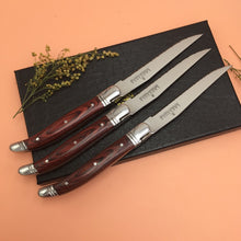 Load image into Gallery viewer, French Languiole Rosewood Steak Knife Set (3pcs)