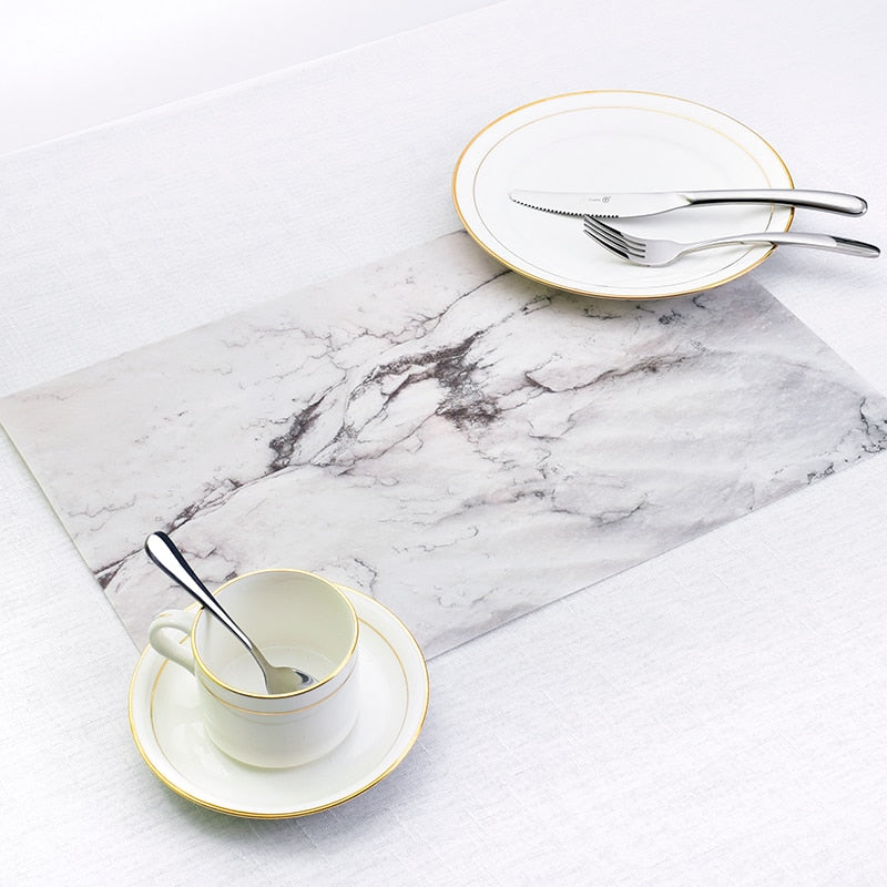 Marble Print Table Mat