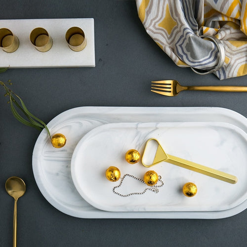 Ceramic Marble Decorative Trays