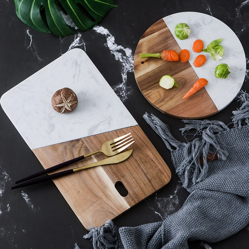 Wood & Stone Cheese Board