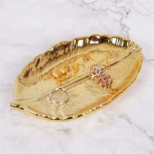 Gold Leaf Decorative Tray