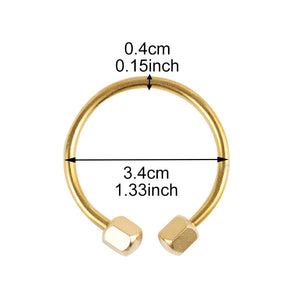 Gold Circle Key Ring