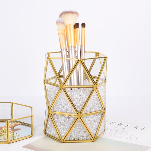Geometric Brush Holder