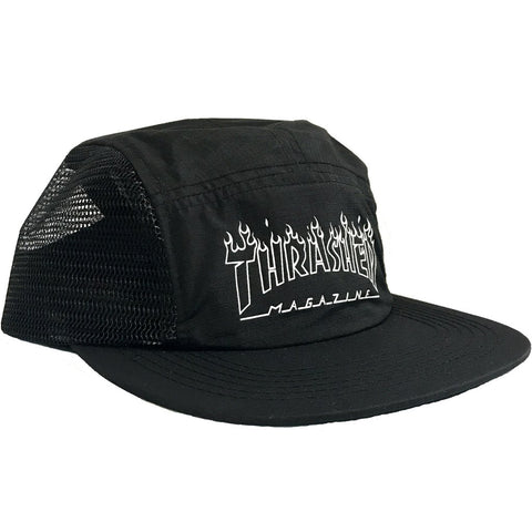 Boné Thrasher 5 Panel Flame Outline - Preto