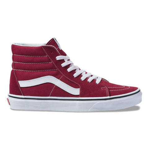 Tênis Vans Sk8 Hi  Rumba Red / True White