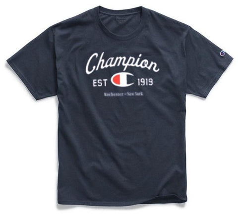 CAMISETA CHAMPION LOGO ARC MARINHO