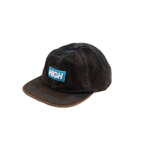 BONÉ HIGH 6 PANNEL BLEACHED LOGO BLACK