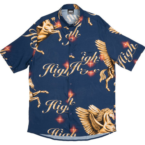 CAMISA HIGH BUTTON PEGASUS NAVY
