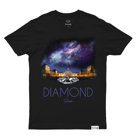 CAMISETA DIAMOND LOUVRE PIRAMID BLACK