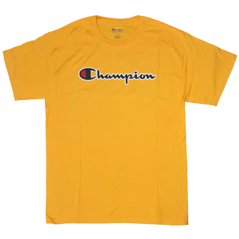 CAMISETA CHAMPION PATCH LOGO AMARELO