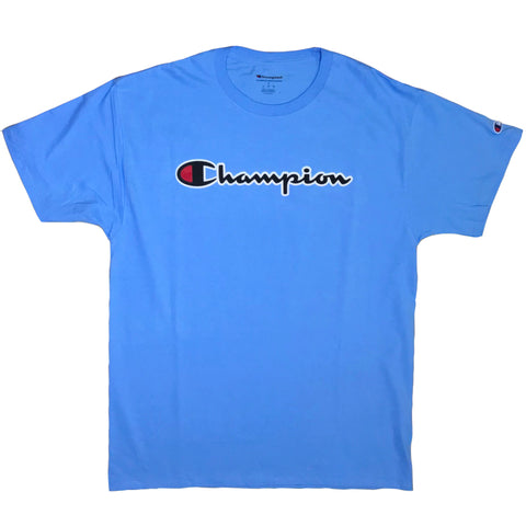 CAMISETA CHAMPION PATCH LOGO AZUL CLARO