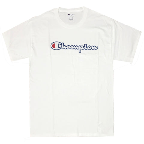CAMISETA CHAMPION PATCH LOGO BRANCO