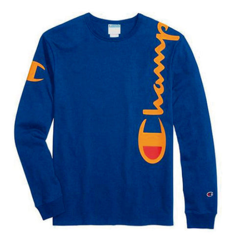 CAMISETA CHAMPION LS OVER THE SHOULDER ROYAL