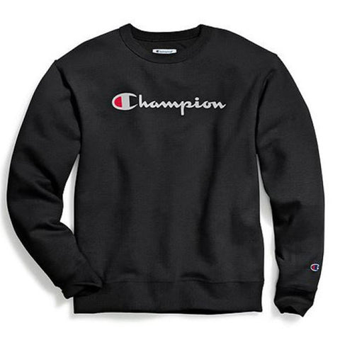 MOLETOM CHAMPION LIFE POWERBLEND GRAPHIC BLACK