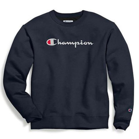 MOLETOM CHAMPION LIFE POWERBLEND GRAPHIC NAVY