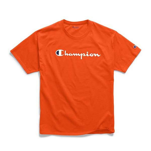 Camiseta Champion Logo Silk - Orange