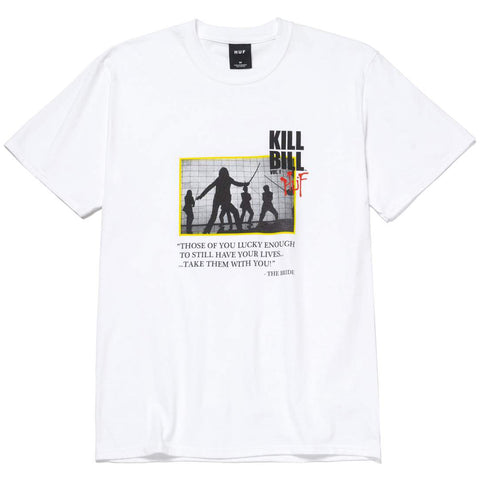 CAMISETA HUF X KILL BILL DEATH LIST WHITE