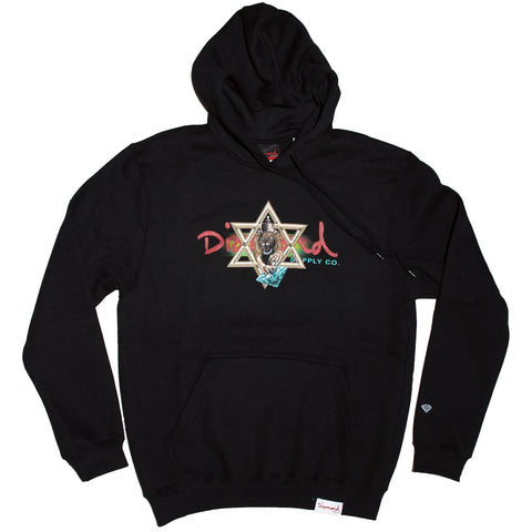 MOLETOM DIAMOND STAR OF DAVID - PRETO