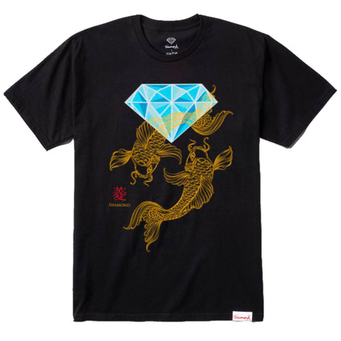 CAMISETA DIAMOND POND - BLACK