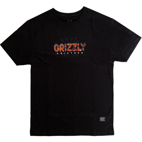 CAMISETA GRIZZLY BURN BLACK