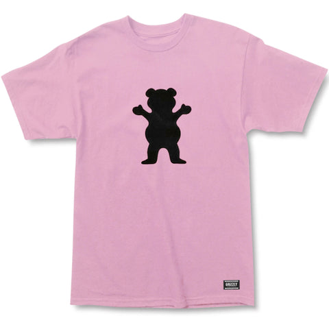 CAMISETA GRIZZLY OG BEAR LOGO ROSA