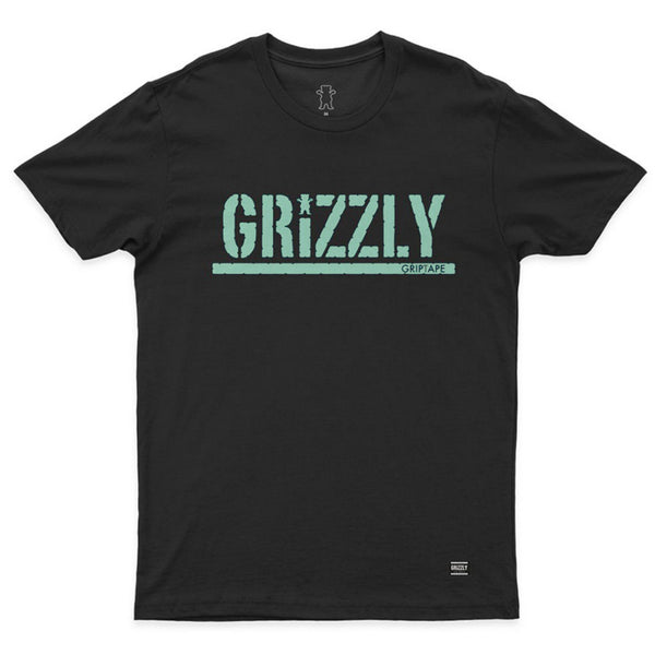 CAMISETA GRIZZLY STAMPED BLACK