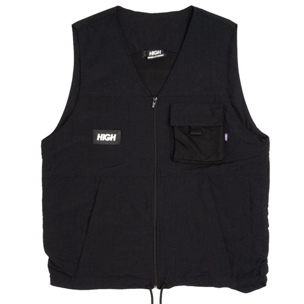 COLETE HIGH KANGAROO VEST BLACK