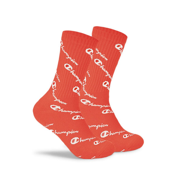 Meia Champion Life All Over Print Sock - Papaya