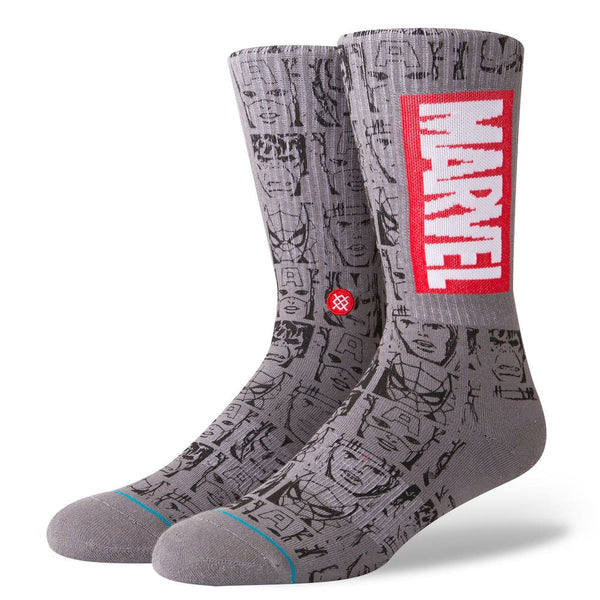 Meia Stance Marvel Icons - Cinza