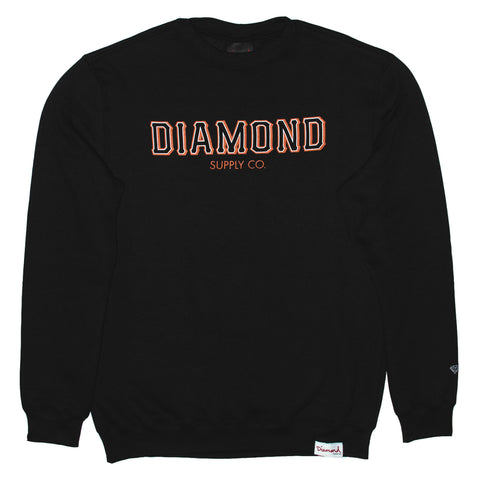 MOLETOM DIAMOND SF - BLACK