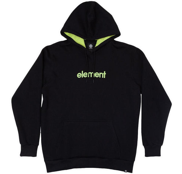 MOLETOM ELEMENT PLUS SIZE BLACK /LIME