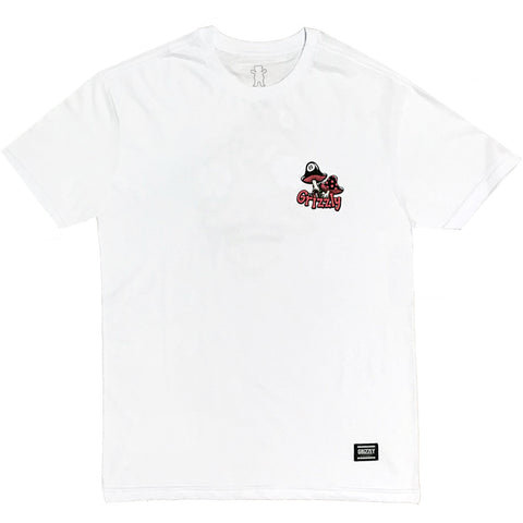CAMISETA GRIZZLY SKULLSHROOMS WHITE