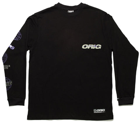 CAMISETA LS ORIG SYE GLOW IN THE DARK BLACK