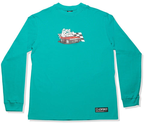 CAMISETA ORIG LS UP IN SMOKE - DEEP GREEN