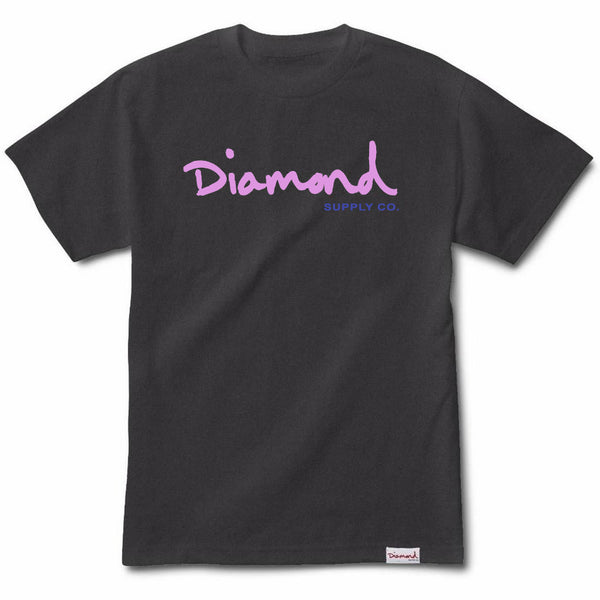 CAMISETA DIAMOND OG SCRIPT OVERDYE BLACK