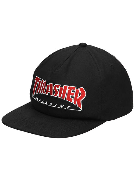 Boné Thrasher Outline Snapback - Black