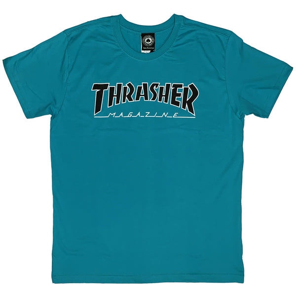 CAMISETA THRASHER OUTLINED VERDE
