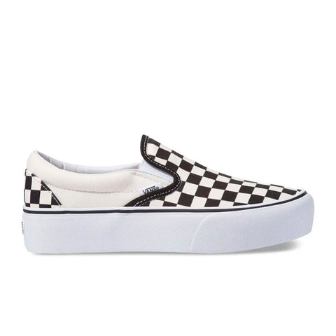 Tênis Vans Classic Slip-On Platform - Checkerboard