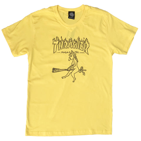 CAMISETA THRASHER DRUNK WITCH AMARELO