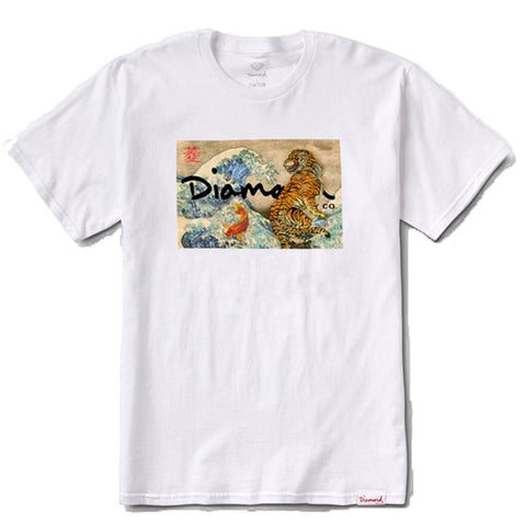 CAMISETA DIAMOND TIGER WAVE - WHITE