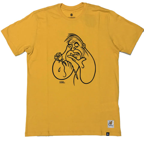 CAMISETA ELEMENT TIMBER LOVE AND DEATH AMARELO