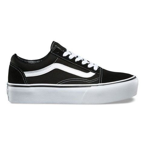 Tênis Vans Old Skool Plataform - Black / White