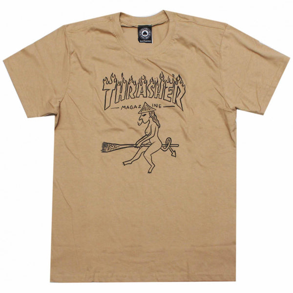 CAMISETA THRASHER DRUNK WITCH KHAKI