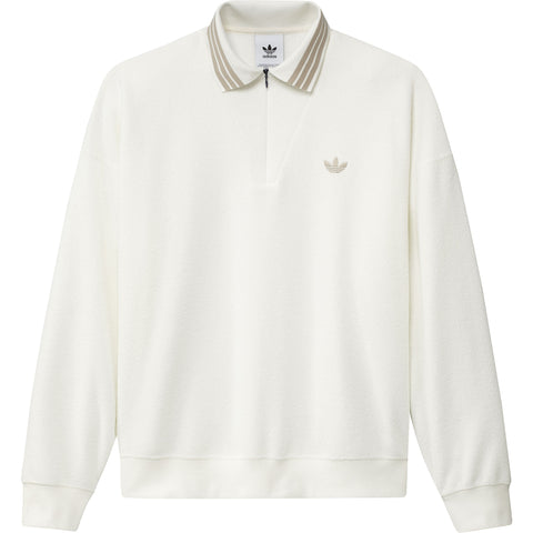CAMISETA ADIDAS POLO LS BOUCLETTE OFF WHITE / SAVANNAH