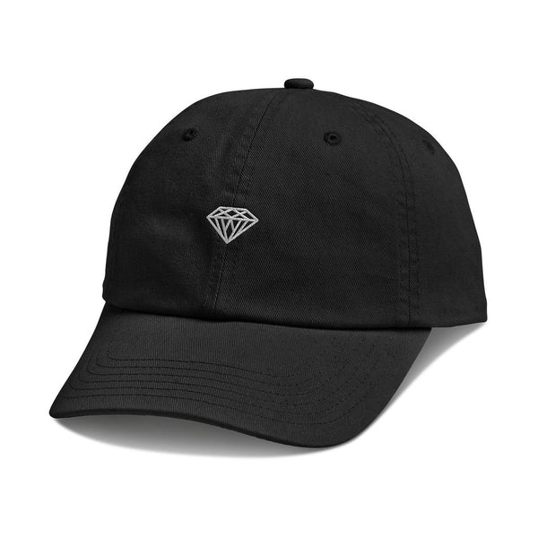 BONÉ DIAMOND MICRO BRILLIANT DAD HAT BLACK