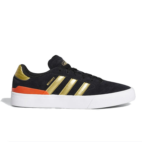 TÊNIS ADIDAS BUSENITZ VULC ll - CORE BLACK / GOLD METALLIC / SOLAR RED