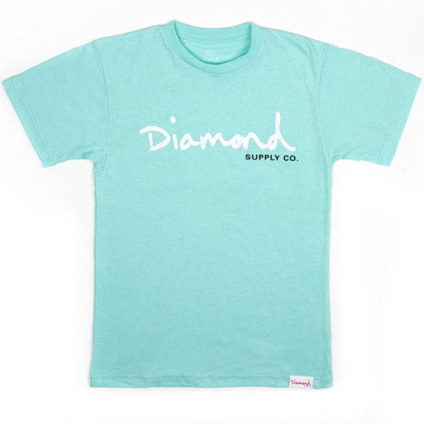 Camiseta Diamond OG Script - Diamond Blue