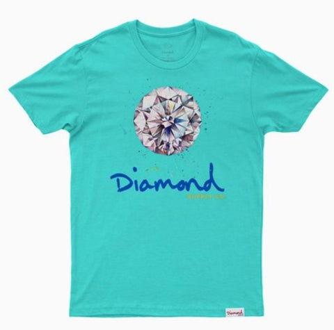 CAMISETA DIAMOND SPLASH SIGN BLUE