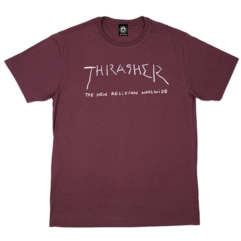 Camiseta Thrasher New Religion - Bordo