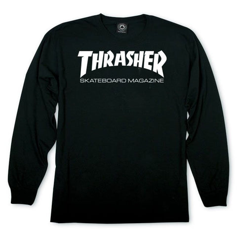 CAMISETA THRASHER ML SKATE MAG BLACK